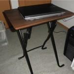 頑丈で木製PCデスク!東急ハンズで買った折り畳み式のテーブル!