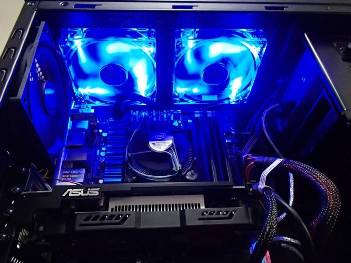 自作PC 青LEDファン 改造