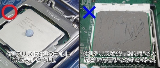 CPU グリスの塗り方