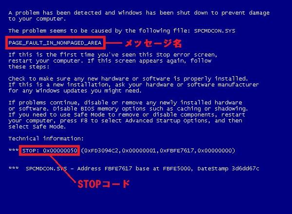 ブルースクリーン  自作PC