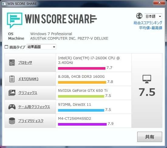 Win Score Share おすすめ