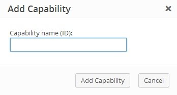 User Role Editor Add Capability