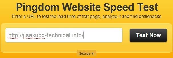 ページの表示速度 測定