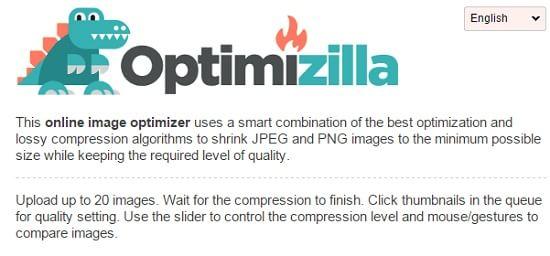 Optimizilla 画像圧縮