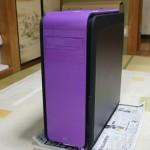 PCケースの外装デザインを改造!プラ素材をスプレーで紫単色に塗装!エアロクールDS200を自作PC零号機にする計画!