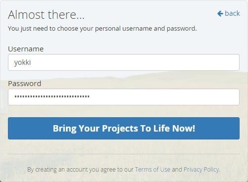 unfuddle 登録方法