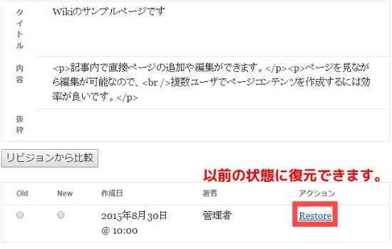 WordPress 変更履歴