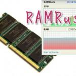 メモリー消費量を解放し劇的に減らす最適化ツール!RamRushの使い方と日本語化の方法!