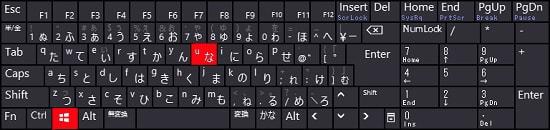 スクリーンキーボード ショートカットキー