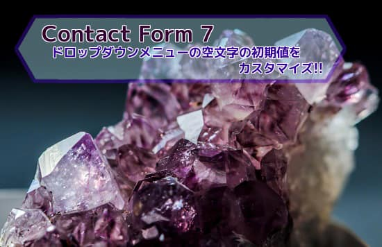 Contact Form7 カスタマイズ