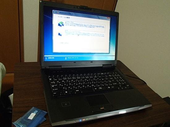 古いノートパソコン 4GB認識